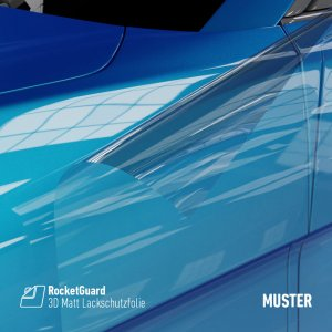 RocketGuard® Paint Protection Film Muster Glänzend, (Bild...