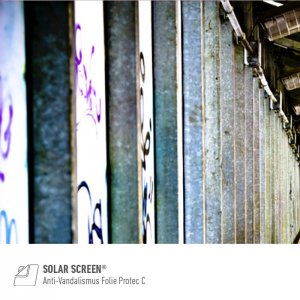 SOLAR SCREEN® Anti-Vandalismus Folie Protec C Serie,...