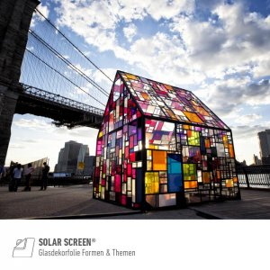 SOLAR SCREEN® Glasdesignfolie Formen & Themen Serie,...
