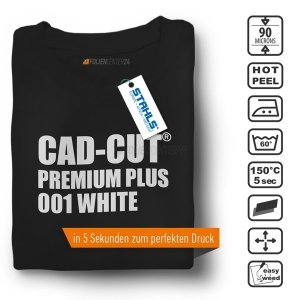 STAHLS® CAD-CUT® Premium Plus Flexfolie 001 White, (Bild...