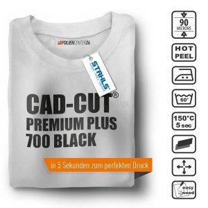 STAHLS® CAD-CUT® Premium Plus Flexfolie 700 Black, (Bild...