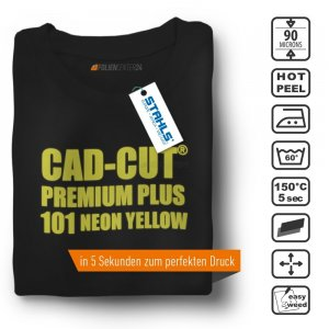STAHLS® CAD-CUT® Premium Plus Flexfolie 101 Neon Yellow,...