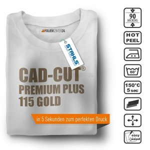 STAHLS® CAD-CUT® Premium Plus Flexfolie 115 Gold, (Bild...