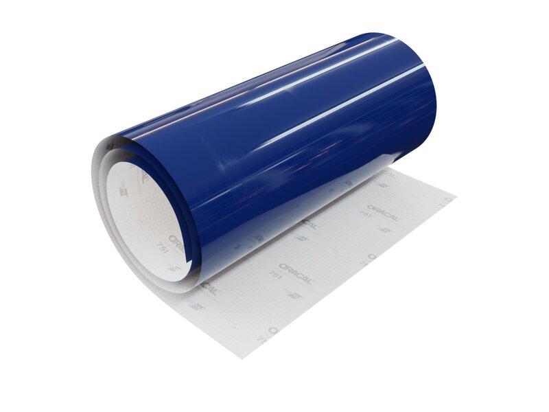 11,95 € //m Dekofolie dunkelblau glänzend Klebefolie selbstklebend 61,5 cm 1 m